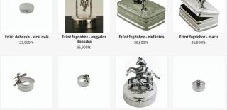 ezüst keresztelő ajándék